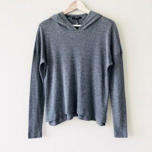 F21⚡️Grey Long Sleeve Rib Sweater Hoodies_M